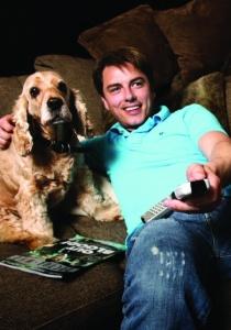 John Barrowman and dog